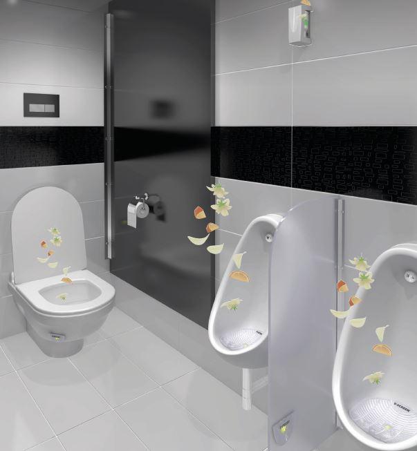 WC tiloissa huomaamattomat ilmanraikastimet.
